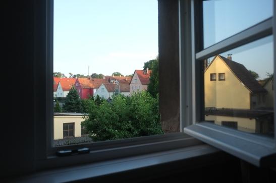 Blick aus dem Badfenster